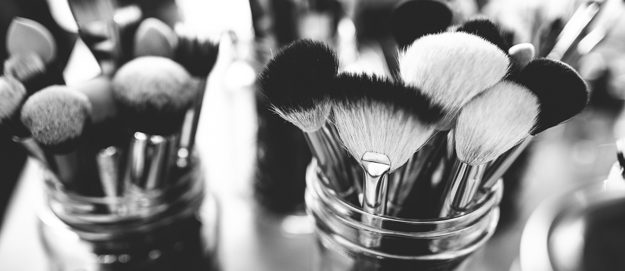 Brushes used for applying Cosmetics
