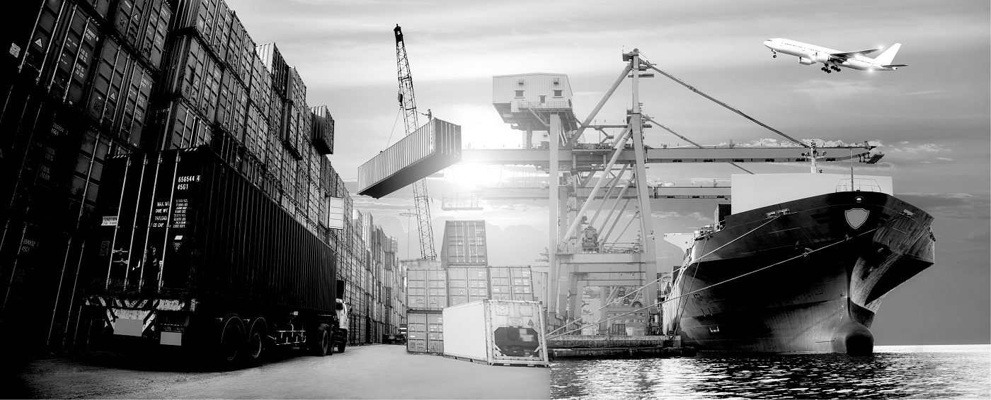 Ship being loaded with Cargo for Export to another Country